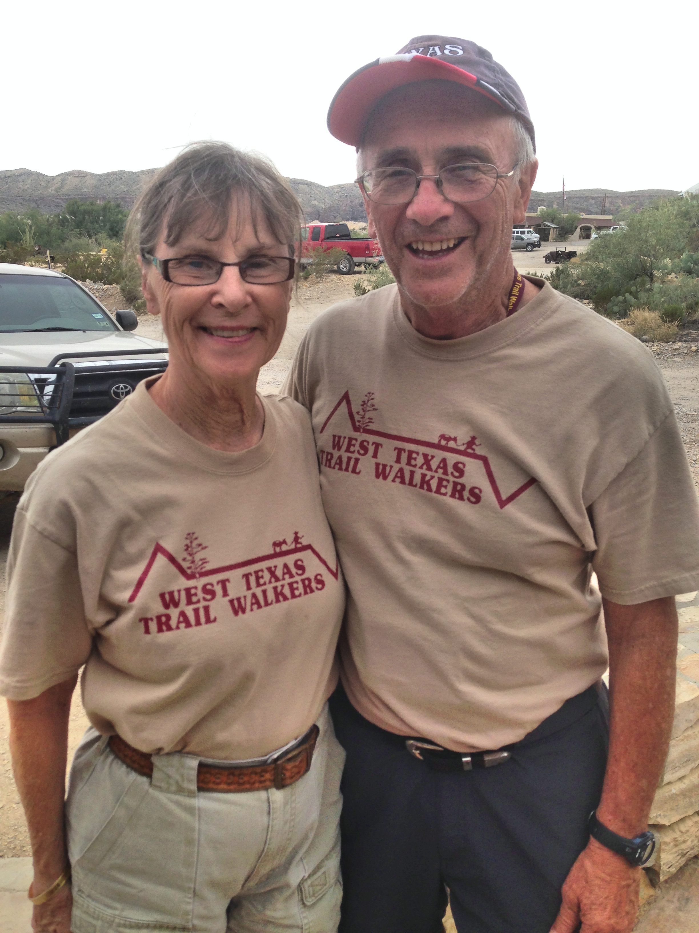 West Texas Trail Walkers - Kathie & Les Minear of Ft. Worth, Texas