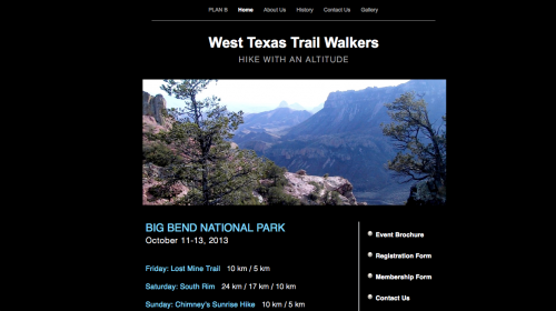 West Texas Trail Walkers . . . for more information.