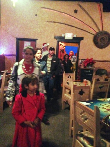 Terlingua children and their families begin arriving for the celebration.