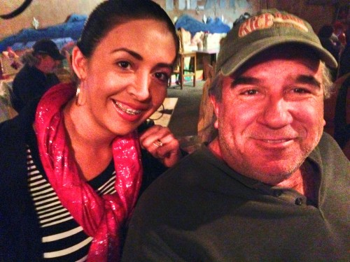 Noemi Galindo, Manager of La Posada Milagro in Ghost Town and Terlingua resident Jeff Gavin