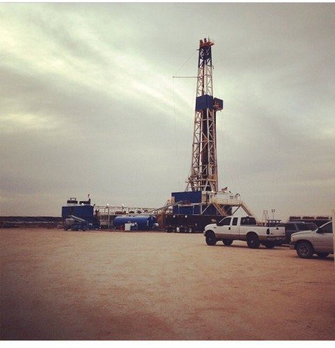 An oil rig south of Pyote, Texas, December 11, 2013