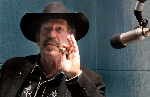 """There's nothing in this world more serious than a comedian when he's telling the truth,"" Kinky Friedman says. (Credit: Mike Lee/KUT)"