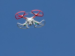 "An example of a ""quad copter"" with a camera attachment. These and other unmanned aircraft are now banned in Big Bend National Park. (Ingrid Taylor via Flickr)"