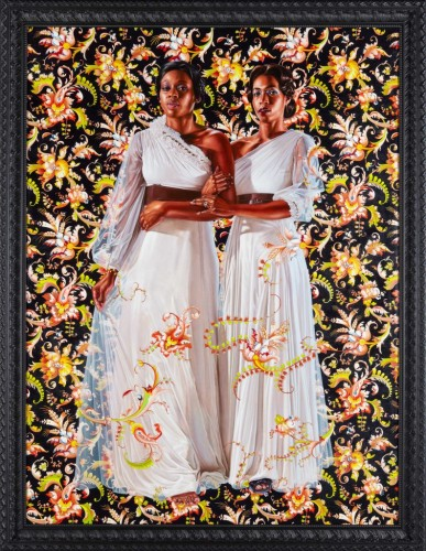 The Two Sisters, oil on linen, 96 x 72 inches, 2012, © Kehinde Wiley