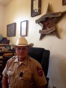Brewster County Sheriff Ronny Dodson at his office in Alpine, Texas (Travis Bubenik)