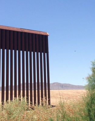 Gap in the border wall, Fort Hancock, Texas-El Porvenir, Chihuahua (Lorne Matalon.)