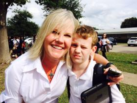Maurie Spears is concerned about the effects of high-stakes testing on her son Luke, a fourth grader at Hexter Elementary in Dallas. (Shelley Kofler/KERA News)