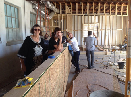 """KRTS staff checking out our """"new home on the range!"""""""