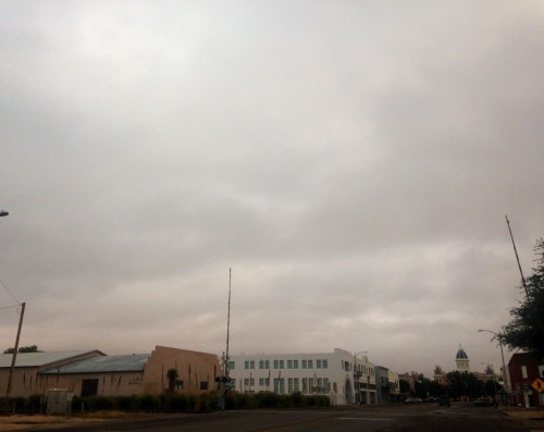 Another cool, cloudy day in Marfa - perfect weather for flipping on the radio!