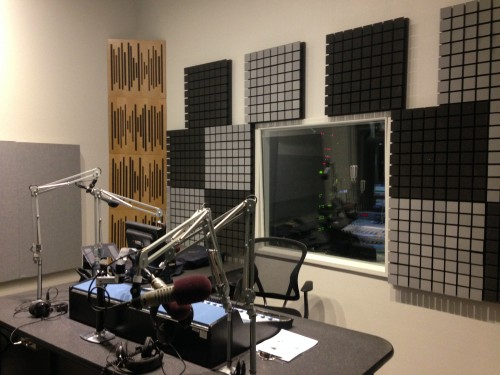 The new Studio A at Marfa Public Radio (Travis Bubenik)