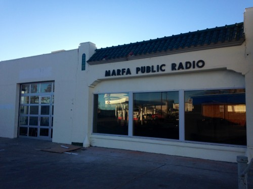 "Our ""New Home on the Range"" - the new HQ for public radio in Far West Texas! (Travis Bubenik)"