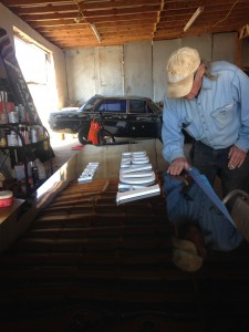 Elder has been doing some of the repairs himself at his shop in Valentine, TX. (Travis Bubenik / KRTS)