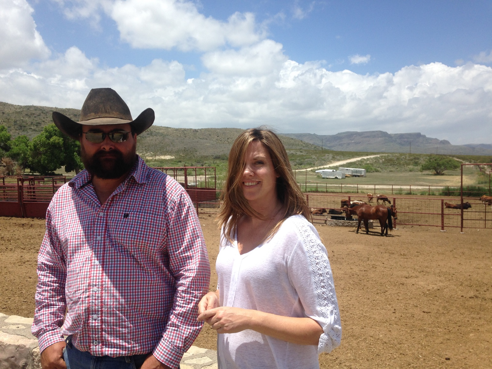 "Cattle ranchers Clay and Lucy Furlong say they were ""horrified"" to learn of a planned nuclear storage site that would be built just a few miles north of their Long X Ranch. (Travis Bubenik / KRTS)"