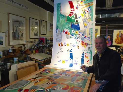 Though artists flocked to Provincetown, Massachusetts throughout the early 20th century, Bill Evaul moved there when the town's artist colony really started to grow into its own in the 1970's. (Travis Bubenik/KRTS)