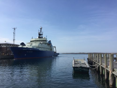The Woods Hole Oceanographic Institute's Research Vessel Neil Armstrong. (Travis Bubenik/KRTS)