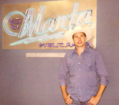Tom Michael, founding General Manager, at the launch of Marfa Public Radio, 2006.