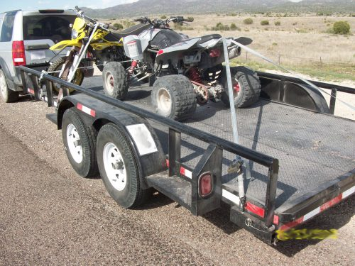 Customs and Border Protection said this trailer was discovered to be carrying a large load of marijuana when it drove through a Border Patrol checkpoint south of Alpine. (Customs and Border Protection)