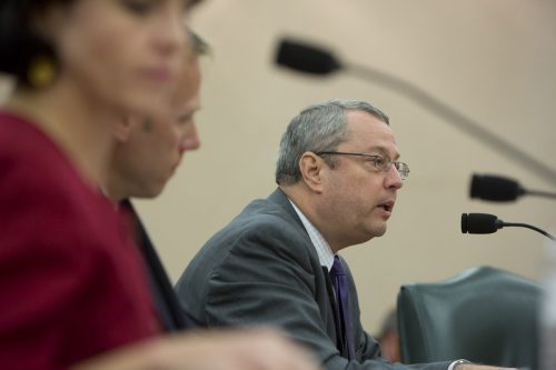 Texas Railroad Commission Chairman David Porter speaks during a Sunset Advisory Commission hearing in Austin on Aug. 22, 2016. (Marjorie Kamys Cotera)