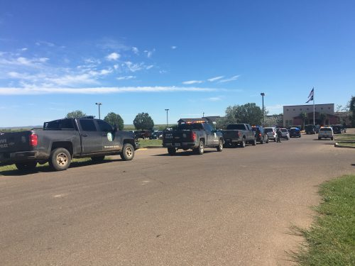 Multiple law enforcement agencies respond to a bomb threat at Big Bend Regional Medical Center after a shooting at Alpine High School on Thursday, September 8, 2016. (Travis Lux)