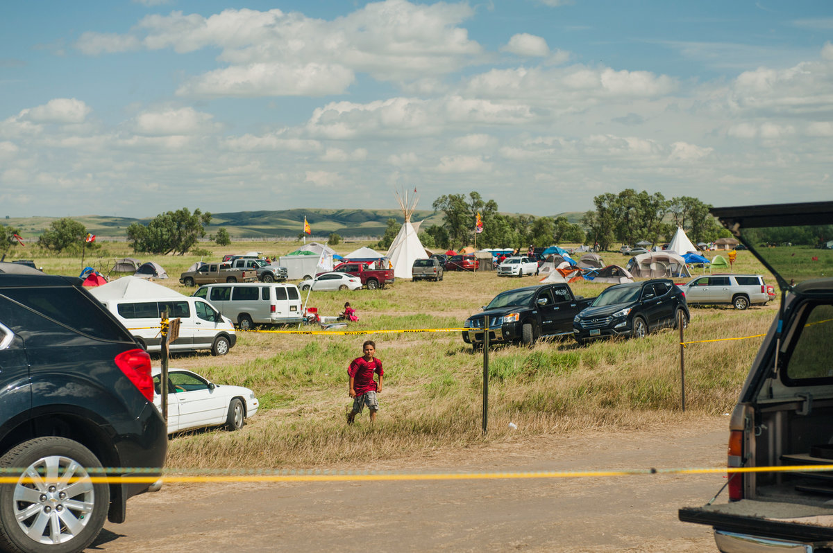 More than 1,000 people, most of them Native Americans, have gathered at two prayer camps along the Cannonball River near its confluence with the Missouri in North Dakota to protest the Dakota Access Pipeline. (Andrew Cullen)