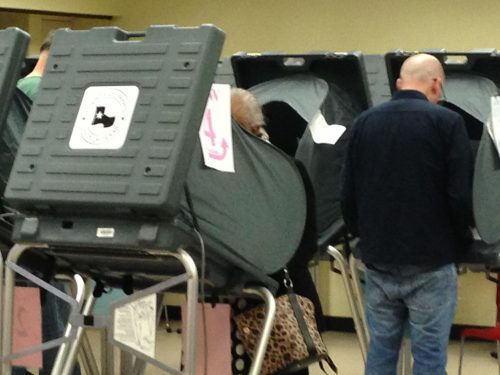 Some Texans  are concerned that electronic voting may lead to fraud at the polls but officials are responding to that. (Al Ortiz/Houston Public Media)