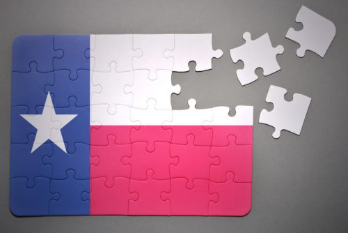 Drawing boundaries that benefit the party that drew them – Republicans do it these days in Texas, though Democrats did when they were in charge – tends to make some oddly-shaped boundaries. (Shutterstock)