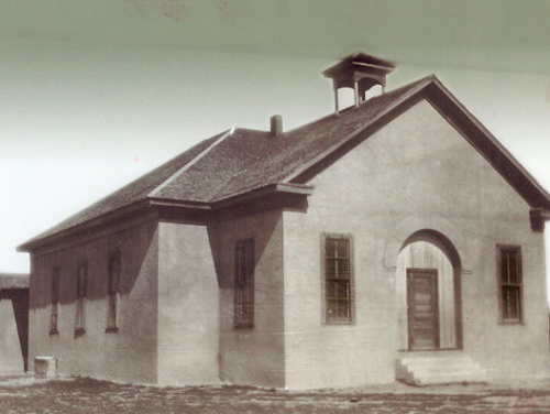 The earliest-known photo of the historic Blackwell School in Marfa, TX. (Blackwell School Alliance)