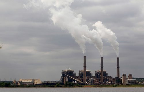 Steam rises from the stacks at the Martin Lake Coal-Fired Power Plant in Tatum, TX March 30, 2011 (Tom Pennington)
