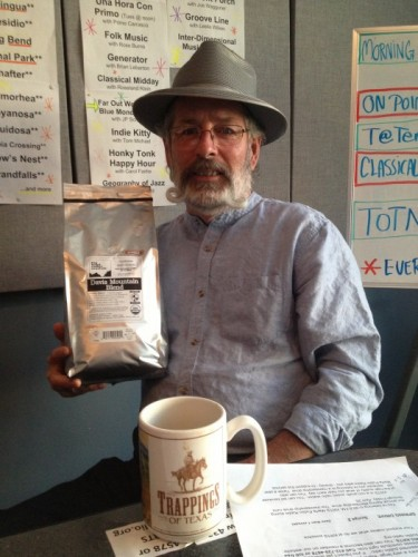Joe Williams in the KRTS booth, talking about his love for coffee and public radio! Joe has generously agreed to offer a 6-month coffee subscription to Big Bend Coffee Roasters for donors at the $240 level until 9 am this morning.