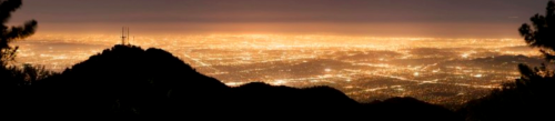 The same view over Los Angeles in 2008 (Credit: Mount Wilson Observatory)