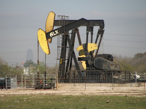 Pump jack in Pierce Junction oilfield south of downtown Houston (Credit: Dave Fehling/StateImpact Texas)