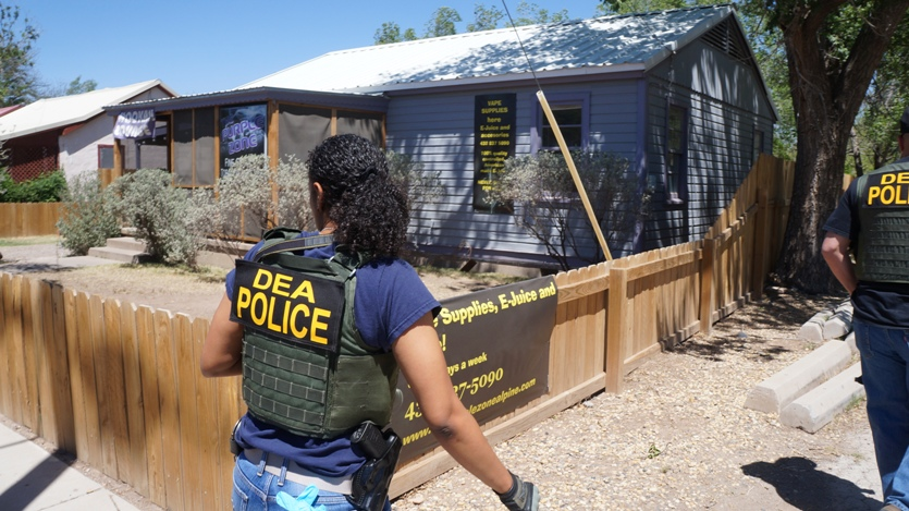 DEA agents and local law enforcement raided the Purple Zone in Alpine as part of the nationwide Project Synergy Phase II (Tom Cochran)