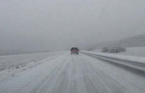 Ice on I-20. (KRTS file photo.)
