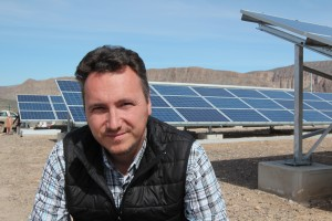 Ivan Antonov Velev is the solar project manager. He was sent here from Mexico City on a contract from Mexico's Federal Electricity Commission (CFA) (Lorne Matalon)