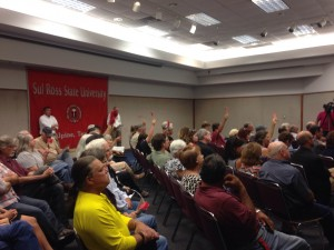 "Pipeline opponents ""raise a red flag"" after hearing statements from Energy Transfer that they felt to be untrue. (Travis Bubenik / KRTS)"