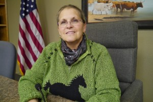 Lynda Stokes is the mayor of Reno in Parker County, where dozens of medium-sized earthquakes have been recorded in an area that used to be quake-free. (Doualy Xaykaothao/KERA News)