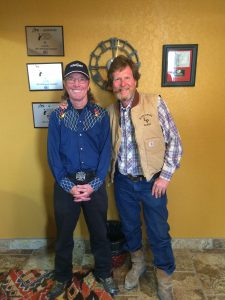 Butch Gilliam and Rooster McConaughey in Midland TX, April 2016.
