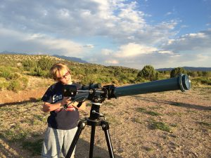Michael Calkins, 12, became interested in the stars when he saw the International Space Station fly over his home in Silver City, New Mexico. (Mónica Ortiz Uribe)